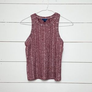 Body-con Ribbed Cropped Tank